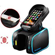 CoolChange Sac de téléphone portable / Sac de cadre de vélo / Top Tube Sac 6.2 pouce Ecran tactile, Réfléchissant, Etanche Cyclisme pour Samsung Galaxy S6 / iPhone 5c / iPhone 4/4S Noir