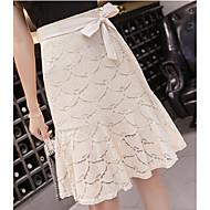 Dame A-linje Nederdele - I-byen-tøj Ensfarvet