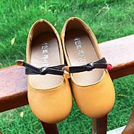 baratos Sapatos de Menina-Para Meninas Sapatos Couro Ecológico Primavera Verão Conforto Rasos Caminhada para Adolescente Laranja / Bege / Rosa claro