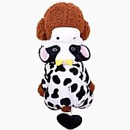Gnavere / Hunde / Katte Frakker / Sweatshirt / Dress Hundetøj Dyr Sort / Hvid 100% Koral Fleece Kostume For kæledyr Dame Sport og udendørs / Dyr