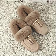 cheap -Women's Shoes Suede Winter Comfort Slippers & Flip-Flops Flat Heel Black / Brown / Almond