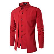 Herre - Ensfarvet Vintage Skjorte