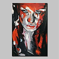 cheap Top Sellings-Mintura® Hand Painted Modern Abstract Knife Girl Landscape Oil Painting on Canvas Wall Art Picture for Home Decor Ready To Hang