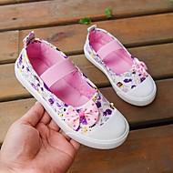 baratos Sapatos de Menina-Para Meninas Sapatos Lona / Couro Ecológico Primavera Verão Conforto Mocassins e Slip-Ons Caminhada Laço para Adolescente Roxo / Azul / Rosa claro