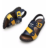 baratos Sapatos de Menino-Para Meninos Sapatos Microfibra Verão Conforto Sandálias para Amarelo / Azul / Branco / Preto