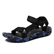 baratos Sapatos Masculinos-Homens Tricô / Lona Verão Conforto Sandálias Côr Camuflagem Vermelho / Verde / Azul