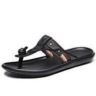tanie Obuwie męskie-Męskie Komfortowe buty Jeans Lato Klapki i japonki Czarny