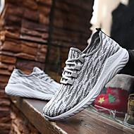 baratos Sapatos Masculinos-Homens Sapatos Confortáveis Com Transparência Outono Tênis Caminhada Preto / Azul Escuro / Cinzento