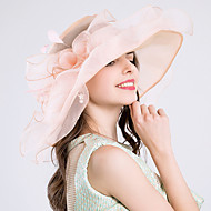 Tulle Hats with Flower 1pc Wedding / Party / Evening Headpiece