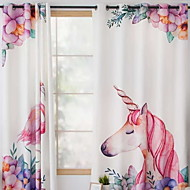 billige Gardiner ogdraperinger-gardiner gardiner Soverom Geometrisk Poly / Bomull Blanding Trykket