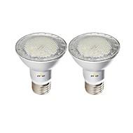 billige Spotlys med LED-EXUP® 2pcs 7 W 630 lm E26 / E27 LED-spotpærer 7 LED perler SMD 3030 Vanntett Varm hvit / Kjølig hvit / Naturlig hvit 85-265 V