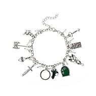 Dame Stilfuldt / Hul Charm-armbånd - Kreativ Luksus, Hængende, Anime Armbånd Sølv Til Graduation / Karneval