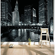 billige Tapet-bakgrunns / Veggmaleri Lerret Tapetsering - selvklebende nødvendig Art Deco / Mønster / 3D
