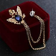 Muškarci Kubični Zirconia Sa stilom Poveznica / lanac Broševi Moda Elegantno Uglađeni Broš Jewelry Crn Plava Za Vjenčanje Praznik
