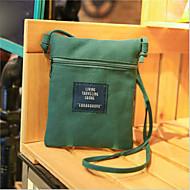 baratos Bolsas de Ombro-Mulheres Bolsas Tela de pintura Bolsa de Ombro Ziper Rosa / Amarelo / Verde Escuro