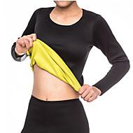 baratos Equipamentos & Acessórios Fitness-Shaper do corpo / Cinta Corselet Térmica / Camisa de manga longa Com Neoprene Elástico, Sem Zíper Emagrecimento, Perda de peso, Queimador De Gordura De Barriga Para Exercício e Atividade Física