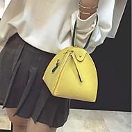 baratos Bolsas Tote-Mulheres Bolsas PU Tote Ziper Rosa / Cinzento / Amarelo