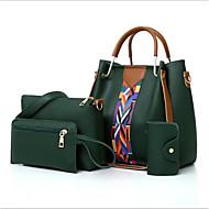 povoljno Komplet torbi-Žene Torbe PU Bag Setovi 4 kom Patent-zatvarač Blushing Pink / Braon / Svjetlo siva