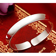 Mujer Clásico Elegante Pulseras de puño Brazalete ancho S925 Sterling Silver Creativo damas Elegante Clásico Pulseras y Brazaletes Joyas Plata Para Diario Cita