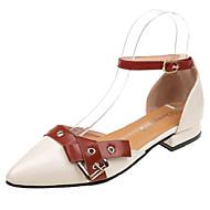 baratos Sapatos Femininos-Mulheres Sapatos Couro Ecológico Verão D'Orsay Rasos Sem Salto Preto / Bege / Vinho