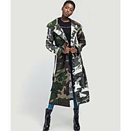 Høj krave Dame camouflage / Moderne Frakke