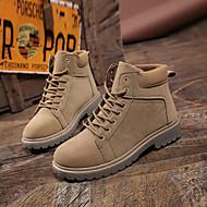 baratos Sapatos Masculinos-Homens Couro Ecológico Outono Botas da Moda Botas Botas Cano Médio Preto / Café