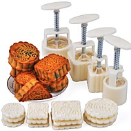tanie Przybory do pieczenia-Narzędzia do pieczenia Plastik / Metal Nowoczesne / Wielofunkcyjne Tort Zaokrąglony / Kwadrat Foremki do ciasta 16 szt.