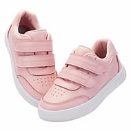 baratos Sapatos de Menina-Para Meninas Sapatos Pele Primavera & Outono Conforto Tênis para Branco / Rosa claro