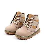 baratos Sapatos de Menino-Para Meninos / Para Meninas Sapatos Couro Ecológico Outono & inverno Coturnos Botas Caminhada Cadarço para Infantil Preto / Bege / Verde Tropa / Botas Curtas / Ankle