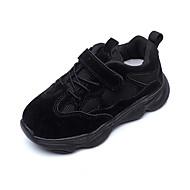 baratos Sapatos de Menina-Para Meninas Sapatos Com Transparência Outono & inverno Conforto Tênis Caminhada Presilha para Infantil Preto / Bege / Rosa claro / Estampa Colorida