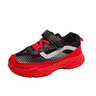 baratos Sapatos de Menina-Para Meninas Sapatos Com Transparência Outono & inverno Conforto Tênis Corrida Presilha para Infantil Vermelho / Rosa claro