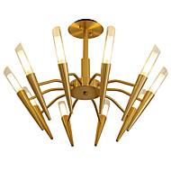 billige Takbelysning og vifter-LWD 10-Light Sputnik / Cone / Geometrisk Lysekroner Nytt Design, Stearinlys Stil, Tre, 110-120V / 220-240V Pære ikke Inkludert
