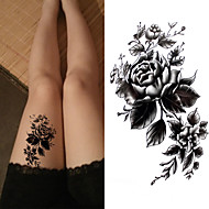 billiga Temporära tatueringar-3 pcs Tatueringsklistermärken tillfälliga tatueringar Blomserier / Romantisk serie Miljövänlig / Ny Design Body art Kropp / arm / Bröst / Dekalstil tillfälliga tatueringar / Tattoo Sticker