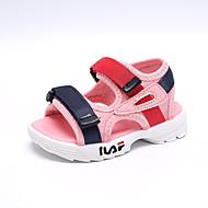 baratos Sapatos de Menina-Para Meninos / Para Meninas Sapatos Com Transparência Verão Primeiros Passos Sandálias Velcro para Bebê Branco / Preto / Rosa claro / Peep Toe