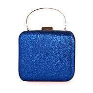 baratos Clutches & Bolsas de Noite-Mulheres Bolsas Pele Bolsa de Festa Purpurina Roxo / Prateado / Azul Real