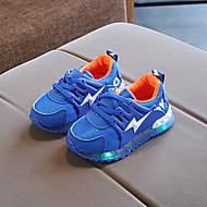 tanie Obuwie chłopięce-Dla chłopców / Dla dziewczynek Obuwie Siateczka Jesień & zima Wygoda / Świecące buty Buty do lekkiej atletyki Szurowane / LED na Dzieci / Brzdąc Szary / Niebieski / Różowy