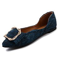 Χαμηλού Κόστους Άνετα μοκασίνια-Γυναικεία Παπούτσια PU Φθινόπωρο Μοκασίνι Χωρίς Τακούνι Επίπεδο Τακούνι Μυτερή Μύτη Μαύρο / Μπεζ / Πράσινο