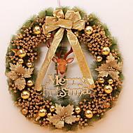 baratos Decoração-Guirlandas Férias De madeira Redonda de madeira Decoração de Natal
