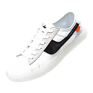 baratos Sapatos Masculinos-Homens Sapatos Confortáveis Lona / Pele Napa Verão Tênis Estampa Colorida Vermelho / Branco / Preto