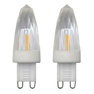 billige Stearinlyslamper med LED-3w mini g9 led krystall lyspære spotlight 1505 cob chip ac 220 varm / kald hvit lysekrone (2 stk)