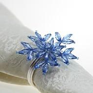 billige Bordduker-Fornem / Klassisk Plast / Akryl Rund Servietring Ensfarget Blomsternål i krystall Borddekorasjoner 12 pcs