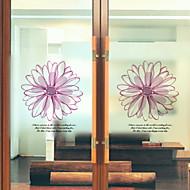 baratos Películas e Adesivos de Janela-Filme de Janelas e Adesivos Decoração Floral Flor PVC Adesivo de Janela