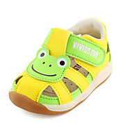 tanie Obuwie dziewczęce-Dla chłopców / Dla dziewczynek Obuwie Mikrowłókno Lato Buty do nauki chodzenia Sandały Tasiemka na Dziecięce Beige / Yellow / Różowy