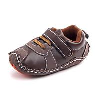 baratos Sapatos de Menino-Para Meninos Sapatos Couro Ecológico Primavera & Outono Primeiros Passos Tênis Velcro para Bebê Azul Escuro / Marron