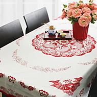 billige Duker-Klassisk Bomull Kvadrat Duge Blomstret Borddekorasjoner 1 pcs