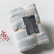 billiga Handdukar och badrockar-Överlägsen kvalitet Badhandduk, Randig Polyester / Bomull Blandning Badrum 1 pcs