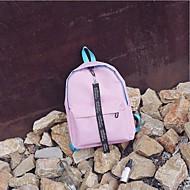 cheap School Bags-Women's Bags Polyester School Bag Zipper White / Black / Blushing Pink