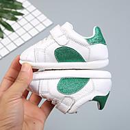 baratos Sapatos de Menina-Para Meninas Sapatos Pele Primavera & Outono Primeiros Passos Tênis Velcro para Bebê Vermelho / Verde