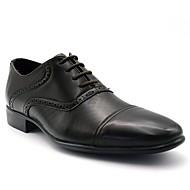 baratos Sapatos Masculinos-Homens Pele Primavera / Outono sapatos Bullock Oxfords Use prova Preto / Festas & Noite