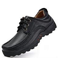 baratos Sapatos Masculinos-Homens Couro Outono / Inverno Conforto Oxfords Não escorregar Preto / Marron
